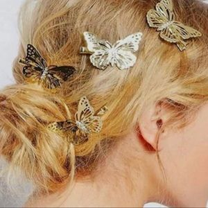 Butterfly Hair Clips Set of 4